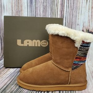 Lamo Chestnut Willow Water Resistant Suede Boots